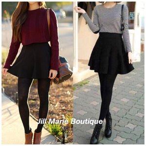 Black skater skirt S, M or L NWT